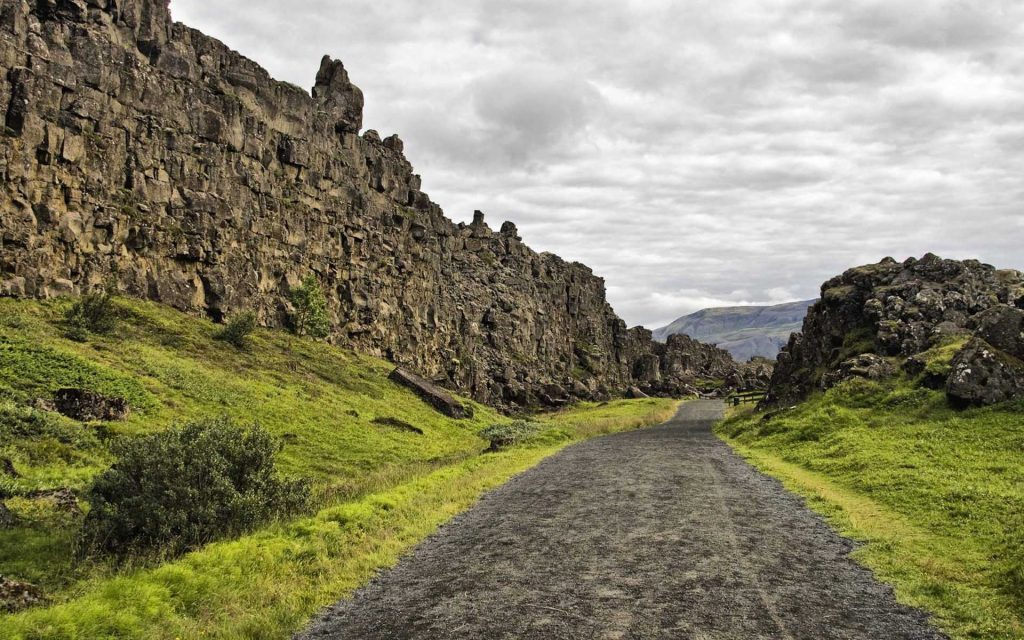 Thingvellir, Iceland, home of the first Icelandic parliament and situated on the mid-Atlantic ridge